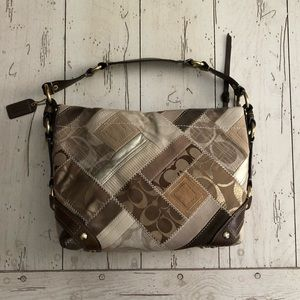 Couch Brown/Tan Patchwork Tote